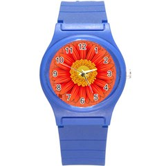 Flower Plant Petal Summer Color Round Plastic Sport Watch (s) by Sapixe