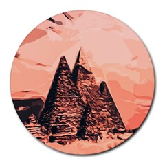 Pyramid Egypt Monumental Round Mousepads by Sapixe