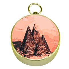 Pyramid Egypt Monumental Gold Compasses by Sapixe