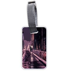Texture Abstract Background City Luggage Tags (one Side)