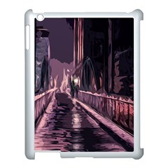 Texture Abstract Background City Apple Ipad 3/4 Case (white)