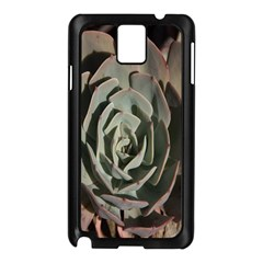 Succulent Green Pink Rosettes Samsung Galaxy Note 3 N9005 Case (black) by Sapixe