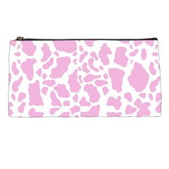 White Pink Cow Print Pencil Cases by LoolyElzayat