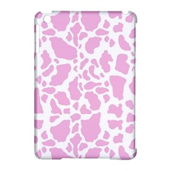 White Pink Cow Print Apple Ipad Mini Hardshell Case (compatible With Smart Cover)