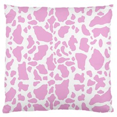 White Pink Cow Print Standard Flano Cushion Case (two Sides) by LoolyElzayat