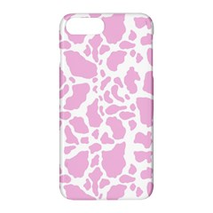 White Pink Cow Print Apple Iphone 8 Plus Hardshell Case
