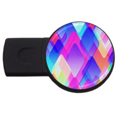 Squares Color Squares Background Usb Flash Drive Round (4 Gb) by Sapixe