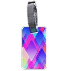 Squares Color Squares Background Luggage Tags (one Side)