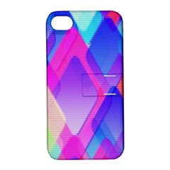 Squares Color Squares Background Apple Iphone 4/4s Hardshell Case With Stand by Sapixe
