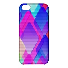 Squares Color Squares Background Apple Iphone 5c Hardshell Case by Sapixe