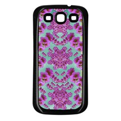 Climbing And Loving Beautiful Flowers Of Fantasy Floral Samsung Galaxy S3 Back Case (black) by pepitasart
