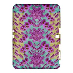 Climbing And Loving Beautiful Flowers Of Fantasy Floral Samsung Galaxy Tab 4 (10 1 ) Hardshell Case  by pepitasart