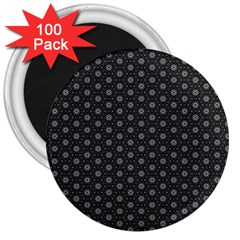 Geometric Pattern Dark 3  Magnets (100 Pack) by jumpercat