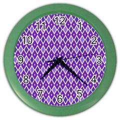 Jess Violet Color Wall Clocks by jumpercat