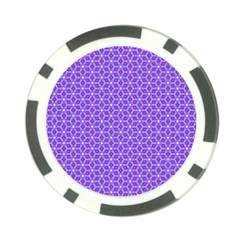 Lavender Tiles Poker Chip Card Guard by jumpercat