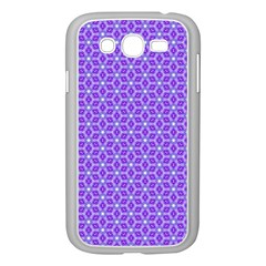 Lavender Tiles Samsung Galaxy Grand Duos I9082 Case (white) by jumpercat