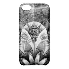 Black And White Fanned Feathers In Halftone Dots Apple Iphone 5c Hardshell Case by jayaprime