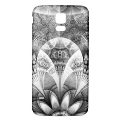 Black And White Fanned Feathers In Halftone Dots Samsung Galaxy S5 Back Case (white) by jayaprime