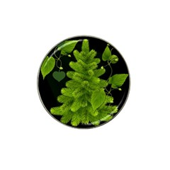 Decoration Green Black Background Hat Clip Ball Marker (4 Pack) by Sapixe