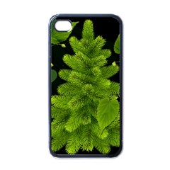 Decoration Green Black Background Apple Iphone 4 Case (black) by Sapixe
