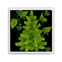 Decoration Green Black Background Memory Card Reader (square)  by Sapixe