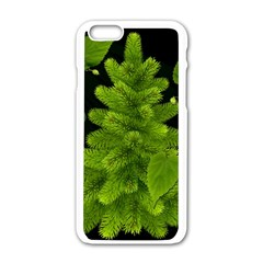 Decoration Green Black Background Apple Iphone 6/6s White Enamel Case by Sapixe