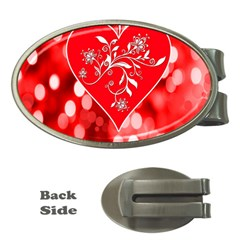 Love Romantic Greeting Celebration Money Clips (oval)  by Sapixe