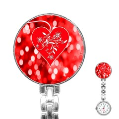 Love Romantic Greeting Celebration Stainless Steel Nurses Watch by Sapixe