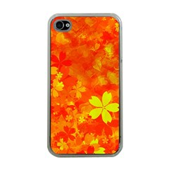 Background Reason Pattern Design Apple Iphone 4 Case (clear)