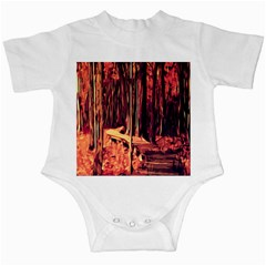 Forest Autumn Trees Trail Road Infant Creepers by Sapixe