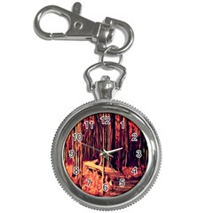 Forest Autumn Trees Trail Road Key Chain Watches by Sapixe