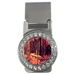 Forest Autumn Trees Trail Road Money Clips (cz)  by Sapixe