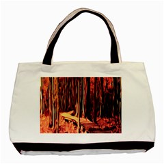 Forest Autumn Trees Trail Road Basic Tote Bag by Sapixe