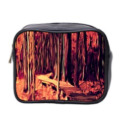 Forest Autumn Trees Trail Road Mini Toiletries Bag 2 Side by Sapixe