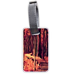Forest Autumn Trees Trail Road Luggage Tags (one Side)  by Sapixe