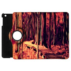 Forest Autumn Trees Trail Road Apple Ipad Mini Flip 360 Case by Sapixe