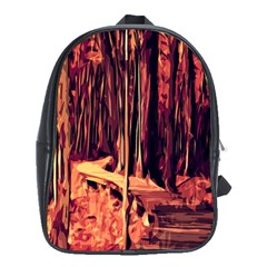 Forest Autumn Trees Trail Road School Bag (xl) by Sapixe