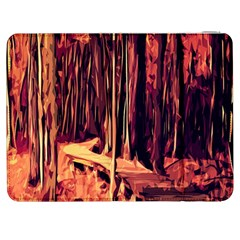 Forest Autumn Trees Trail Road Samsung Galaxy Tab 7  P1000 Flip Case by Sapixe