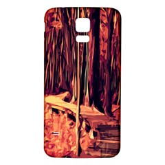 Forest Autumn Trees Trail Road Samsung Galaxy S5 Back Case (white) by Sapixe