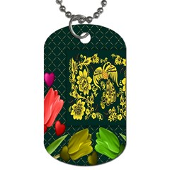 Background Reason Tulips Colors Dog Tag (one Side)