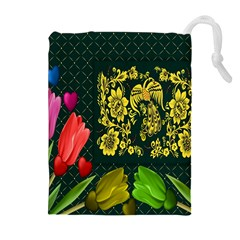 Background Reason Tulips Colors Drawstring Pouches (extra Large) by Sapixe
