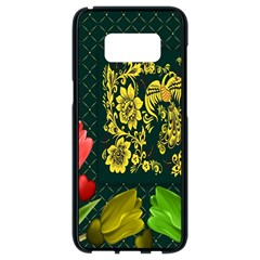 Background Reason Tulips Colors Samsung Galaxy S8 Black Seamless Case