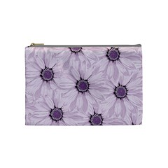 Background Desktop Flowers Lilac Cosmetic Bag (medium)  by Sapixe