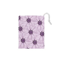 Background Desktop Flowers Lilac Drawstring Pouches (xs)  by Sapixe