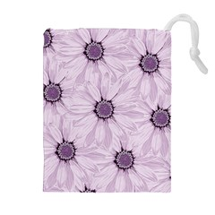 Background Desktop Flowers Lilac Drawstring Pouches (extra Large) by Sapixe