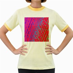 Background Desktop Mosaic Raspberry Women s Fitted Ringer T Shirts