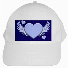 Background Texture Heart Wings White Cap by Sapixe