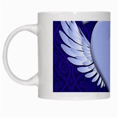 Background Texture Heart Wings White Mugs