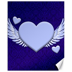 Background Texture Heart Wings Canvas 16  X 20