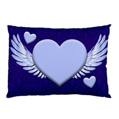 Background Texture Heart Wings Pillow Case by Sapixe